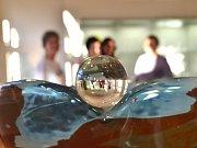 Muzejní noc v jabloneckém Muzeu skla a bižuterie.