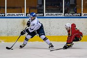 Druhý zápas čtvrtfinále play off 2. ligy ledního hokeje skupiny Západ + Střed se odehrál 14. března 2017 na Jabloneckém zimním stadionu. Utkaly se celky HC Vlci Jablonec nad Nisou a HC Tábor. Na snímku vpravo Ondřej Žalud.