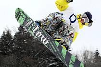V jednom z nejlepších snowparků v ČR v Rejdicích v Jizerských horách se jel závod Impromat 4×4 Českého poháru ve freestyle snowboardingu.