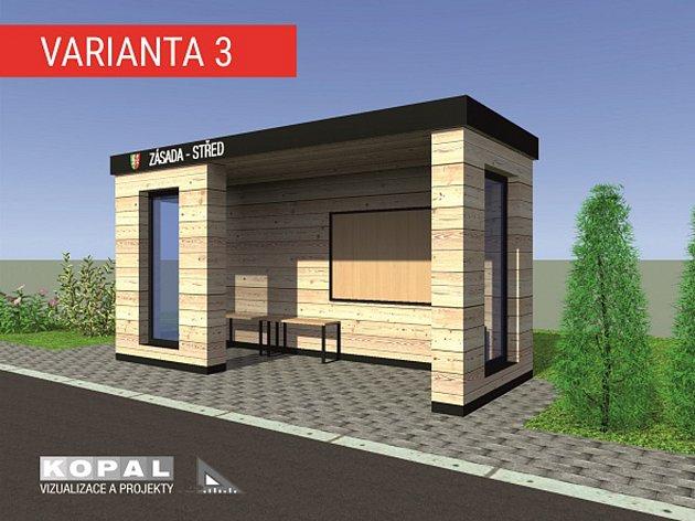 V Zásadě vyroste zcela nová autobusová zastávka. O její podobě mohou občané hlasovat na internetových stránkách obce.