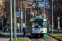 Tramvaj Tatra T2R v Jablonci nad Nisou.