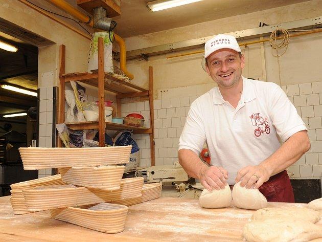 Jiří Mikula, majitel pekárny  a cukrárny.