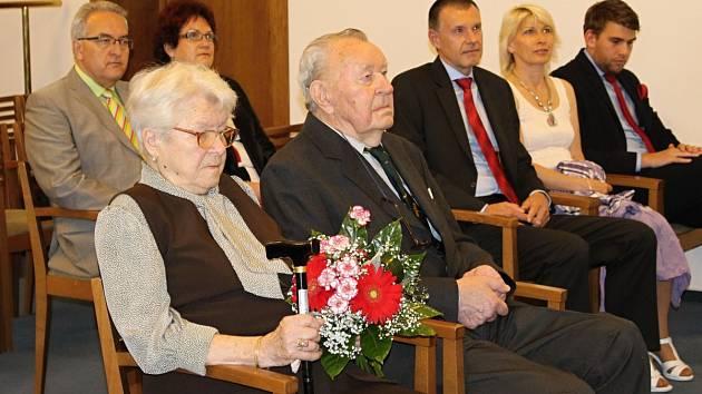 Výročí oslavili manželé Nerudovi.