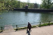 Přehrada Harcov na jaře