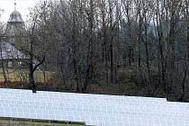 Fotovoltaická elektrárna na Krásné.