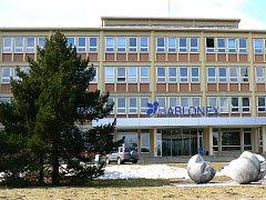 Budova ředitelství Jablonex Group v Jablonci u přehrady.