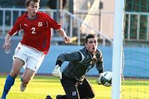 """Kvalifikace na ME """"21"""". Češi tak dokázali v Jablonci porazit v přímém boji o prvenství ve skupině Island 3:1 a budou tak mezi nasazenými týmy v baráži."""