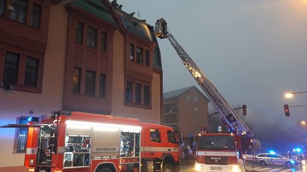 Požár v Jablonci, 12.12.2020