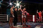 Galavečer bojových sportů, Iron Night Fight 3, proběhl 22. února v městské hale v Jablonci nad Nisou. Na snímku je Michaela Kerlehová (vpravo) a Hiba Hosny z Německa v kategorii světový titul WKU do 52 kilogramů.