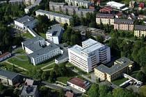 Nemocnice Jablonec ze vzduchu