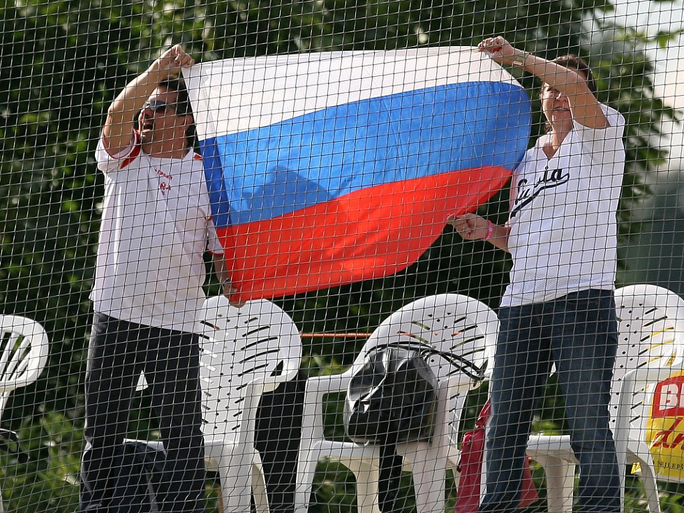 Kadetské mistrovství Evropy v baseballu pokračovalo třetím dnem. Na snímku utkání České republiky s Ruskem (v červeném).