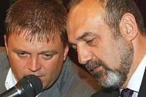Krajský mítink členů ČSSD proběhl v Liberci za účasti místních politických špiček. Robert Dušek (vlevo) a Michal Kraus.