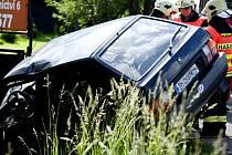 Foto dopravní nehod v Rýnovicích, ke které došlo v polovině června.