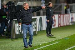Zápas skupiny K Evropské ligy mezi týmy FK Jablonec a FC Astana se odehrál 25. října na stadionu Střelnice v Jablonci nad Nisou. Na snímku je trenér Petr Rada.