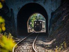 """Parní lokomotiva """"Litovel"""" 310.0134 vyjela 29. září při příležitosti oslav 130. výročí železnice na trati Liberec - Jablonec nad Nisou."""