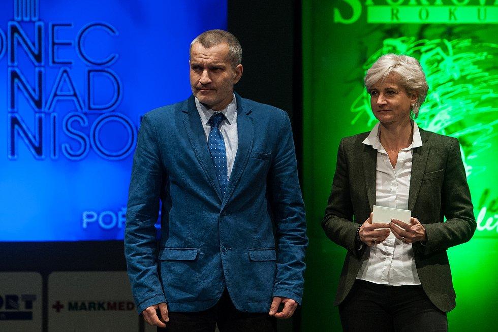 Slavnostní vyhlášení ankety Nejúspěšnější sportovec Jablonecka za rok 2017 proběhlo 29. ledna v Městském divadle v Jablonci nad Nisou. Na snímku vlevo je starosta Tanvaldu Vladimír Vyhnálek.