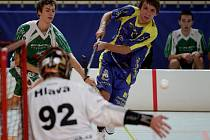 Jablonečtí florbalisté (v modrém) podlehli v utkání podzimu Ústí nad Labem.