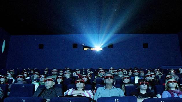 3D projekce v kině. Ilustrační snímek.