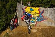 Finále závodu světové série horských kol ve fourcrossu, JBC 4X Revelations, proběhlo 15. července v bikeparku v Jablonci nad Nisou. Na snímku je Romana Labounková.