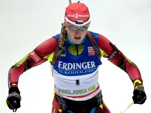 Jablonecká biatlonistka Gabriela Soukalová.