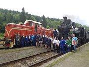Parní lokomotiva Sedma jezdila o víkendu na trati Kořenov Harrachov.