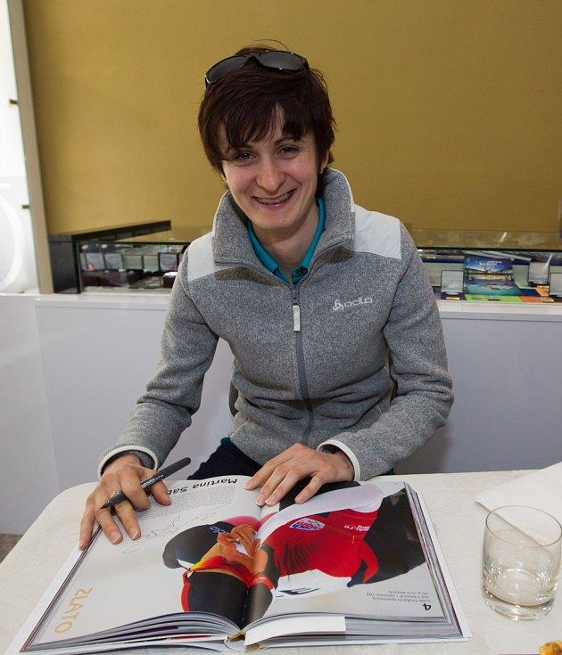 Olympijská vítězka Martina Sáblíková zavítala do Jablonce nad Nisou.