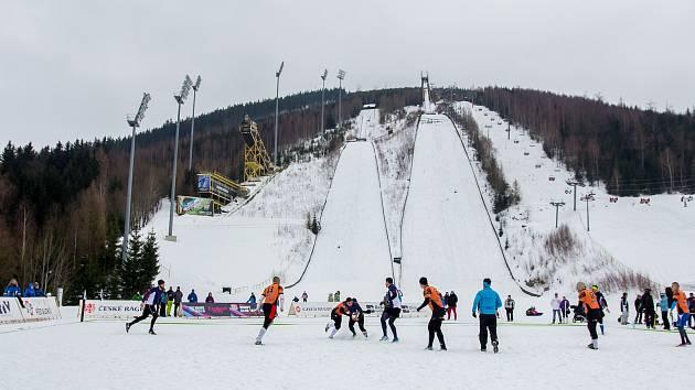 Mamutí můstek v Harrachově. Zima 2017