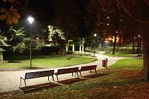 Nově osvětlený Tyršův park