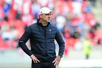 Fotbalové utkání HET ligy mezi celky SK Slavia Praha a FK Jablonec 19. května v Praze. Jindřich Trpišovský.