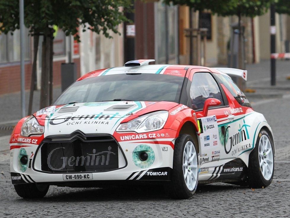 Na snímku je posádka Miroslav Jakeš – Jaroslav Novák s vozem Citroën DS3 R5.