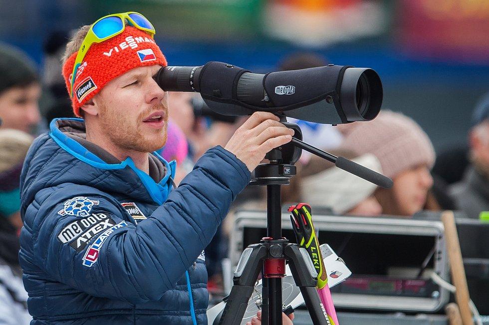 Exhibiční Mistrovství České republiky v biatlonovém supersprintu proběhlo 23. března ve sportovním areálu Břízky v Jablonci nad Nisou. Na snímku je biatlonový trenér Marek Lejsek.