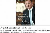 Elektronická petice Petr Beitl primátorem