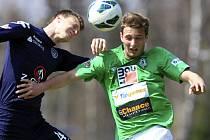 Juniorka Jablonce porazila Slovácko hladce 3:1. Radim Jurča (vpravo) vstřelil v zápase dva góly.