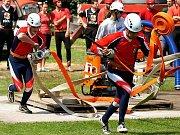 Sbor dobrovolných hasičů Frýdštejn - muži. Soutěž Podkozákovská hasičská liga 2009.