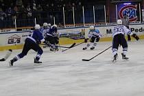 II. liga HC Vlci Jablonec - Stadion Vrchlabí 4:3. Vlci - modré dresy.