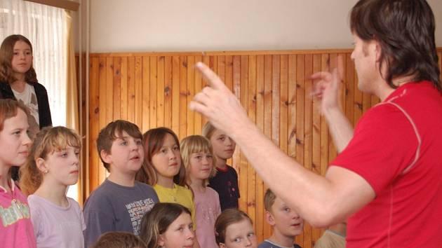 Vrabčáci na soustředění společně s Pavlem Žurem