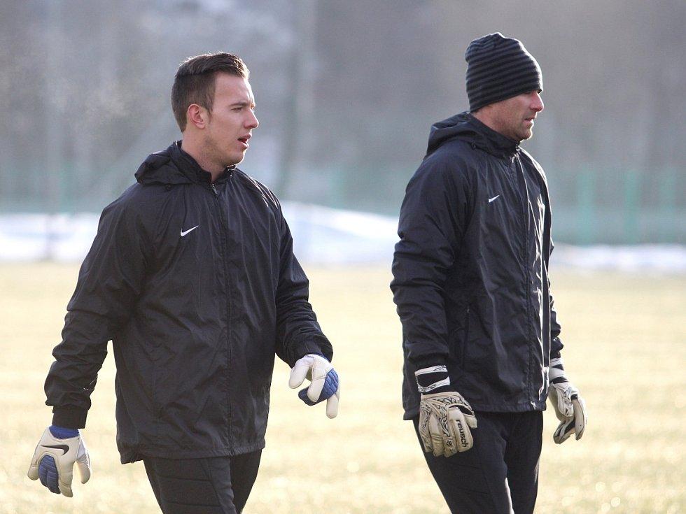 Fotbalisté Jablonce zahájili ve středu zimní přípravu. Na snímku Vilém Fendrich a Michal Špit.