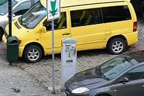 Parkovací automat v Jablonci.