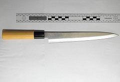Nůž na policejním snímku - ilustrační snímek
