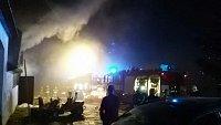 Požár části objektu Šamalovy chaty na Nové louce.