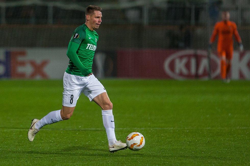 Zápas skupiny K Evropské ligy mezi týmy FK Jablonec a FC Astana se odehrál 25. října na stadionu Střelnice v Jablonci nad Nisou. Na snímku je Lukáš Masopust.