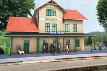 Vizualizace plánované rekonstrukce nádraží na Malé Skále.