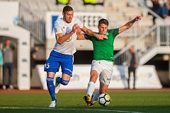 Lukáš Masopust (vpravo) byl také v zápase s Mladou Boleslaví u  mnoha zajímavých akcíI. HET liga FK Jablonec - FK Mladá Boleslav 3:1 (2:0)