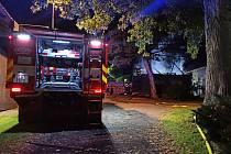 Požár garáže ve Stružinci.