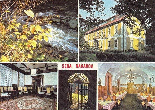 Národní podnik Seba Tanvald měl jednu ze svých rekreačních destinací vzámku Návarov.