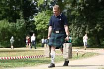 Na Sychrově se v létě konají i Skotské hry