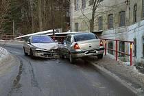 Nehoda v Lukášovské ulici.