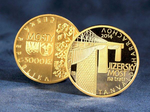 ČNB emituje další minci ve třetí sérii na téma Mosty České republiky, vníž každá mince snominální hodnotou 5000,- Kč váží půl troyské unce zlata.