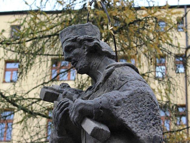 Socha Jana Nepomuckého v Rýnovicích