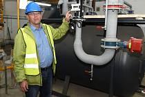 Petr Roubíček, ředitel Jablonecké energetické v jedné z nově vzniklých kotelen, které již fungují.